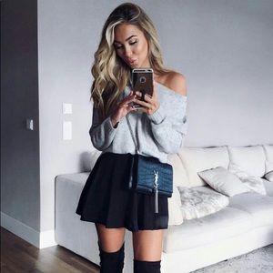 BNWT! Express black short circle skirt w/stretch!
